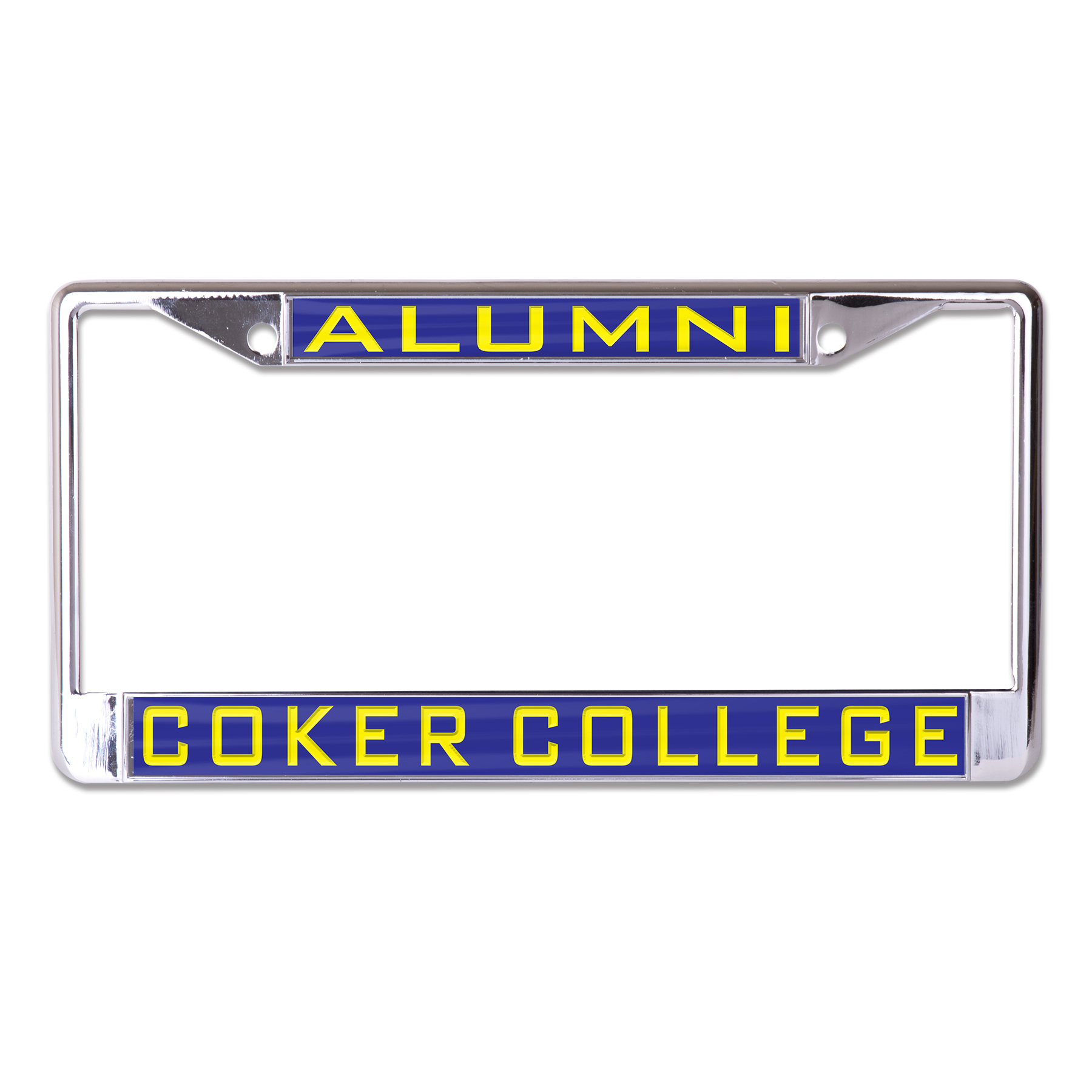 Souvenir Alumni ALUMNI COKER COLLEGE INLAID LICENSE FRAME