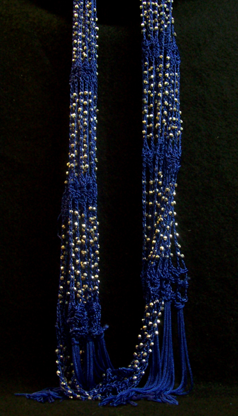 Image For Outerware Scarf NAVY BEAD WRAP SCARF