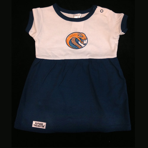 Image For Baby Clothing ONESIE DRESS WHITE/NAVY