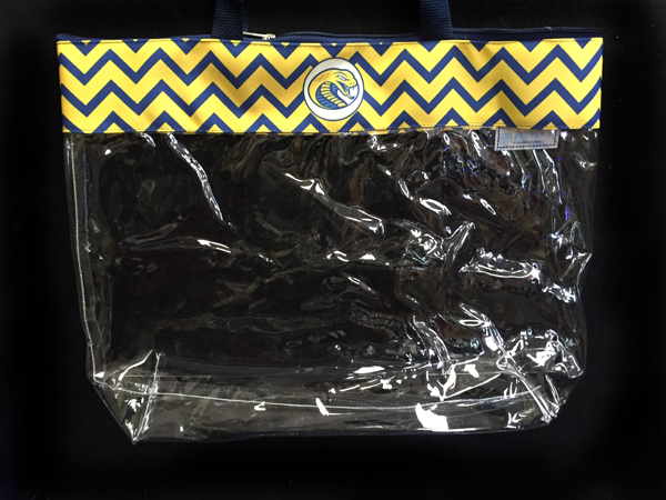 Cover Image For Clearance Bag STADIUM TOTE CHEVRON TRIM