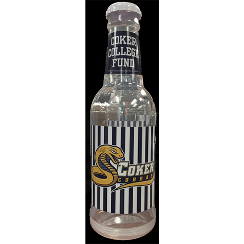 Image For Souvenir COKER COLLEGE FUND BOTTLE