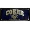 Cover Image for Clearance Souvenir License Plate BLUE COKER LICENSE TAG
