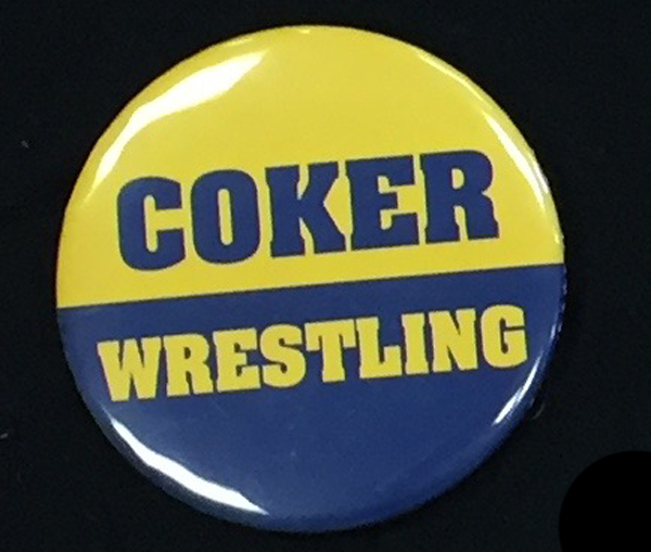 Image For Button COKER WRESTLING BUTTON