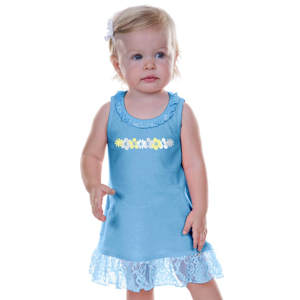 Image For Baby Clothing LACE TRIM DRESS