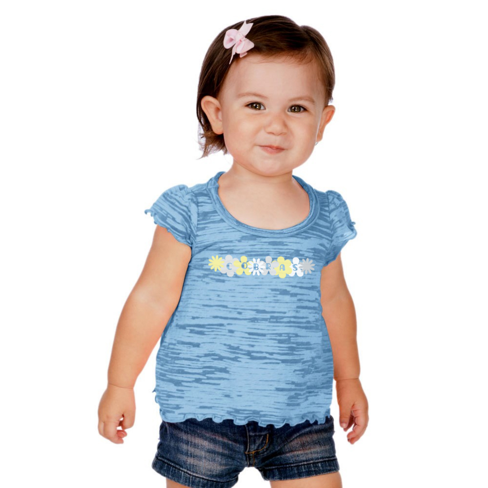 Image For Clearance Baby Clothing  HI LOW FLUTTER SLEEVE TEE