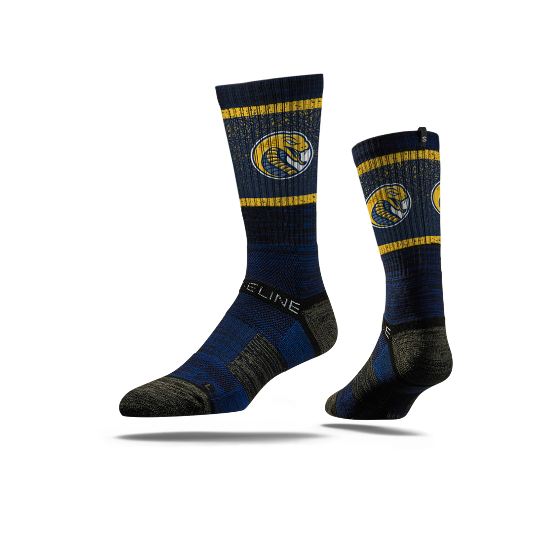 Image For Socks NAVY STRIDELINE SOCKS