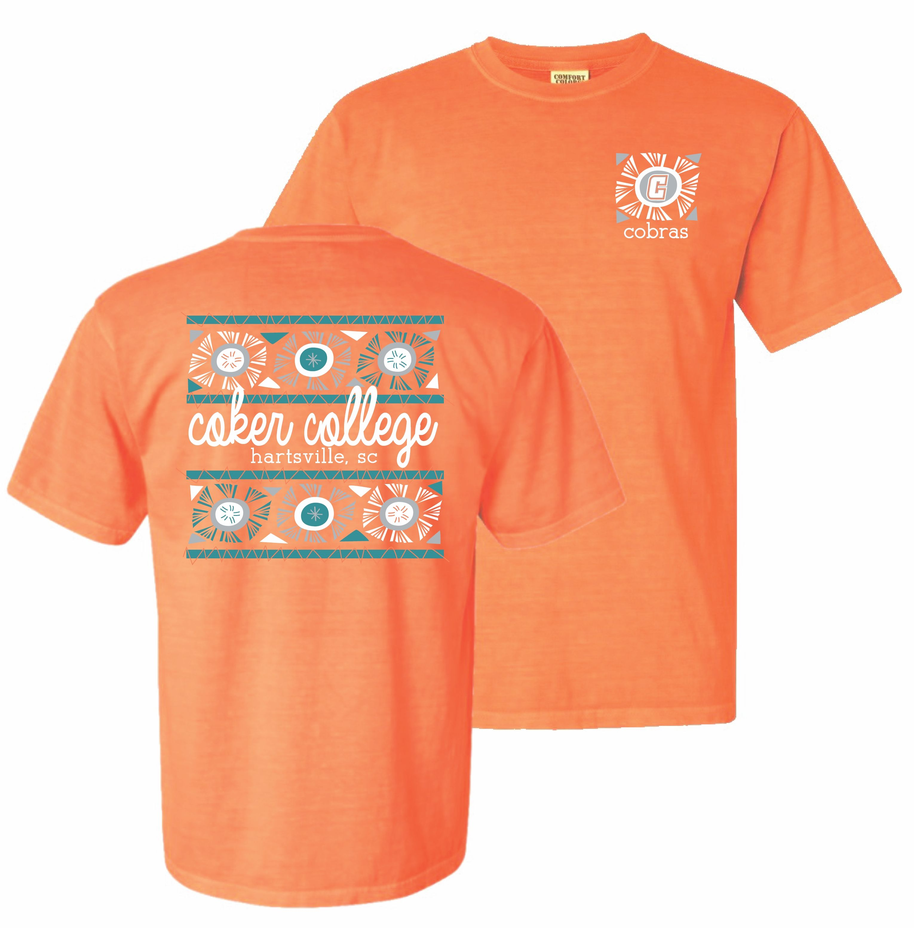 Cover Image For Clearance Shirt Short Sleeve STARBURST TEE COKER COLLEGE