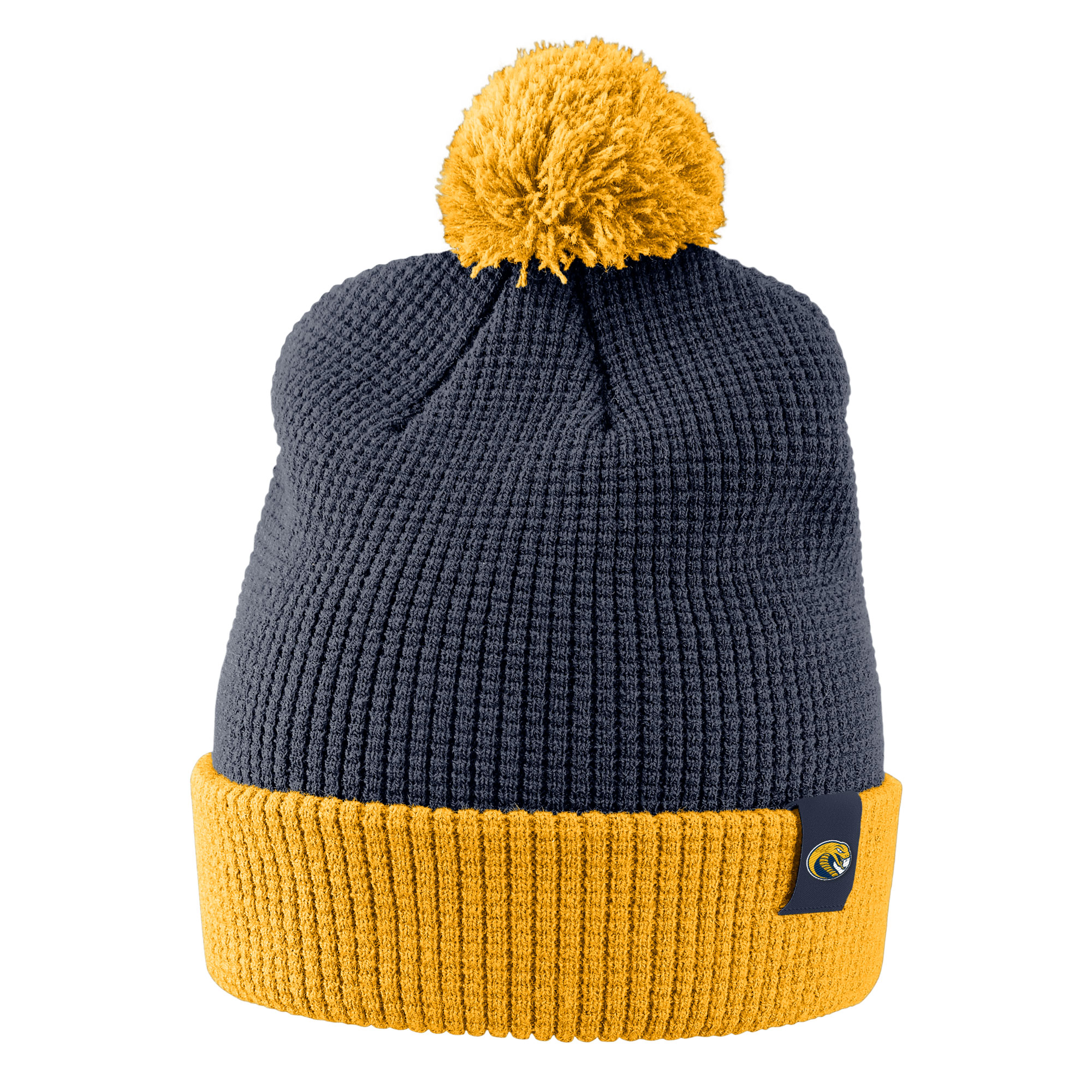 Image For Hat Beanie WAFFLE BEANIE W/ REMOVABLE POM