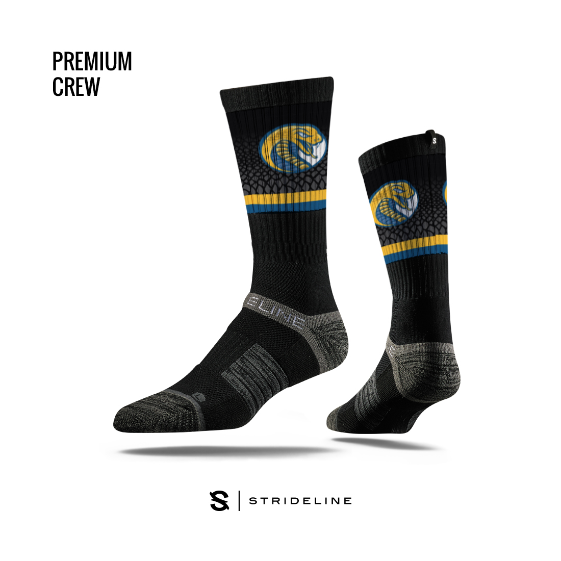 Cover Image For Socks BLACK STRIDELINE SOCKS
