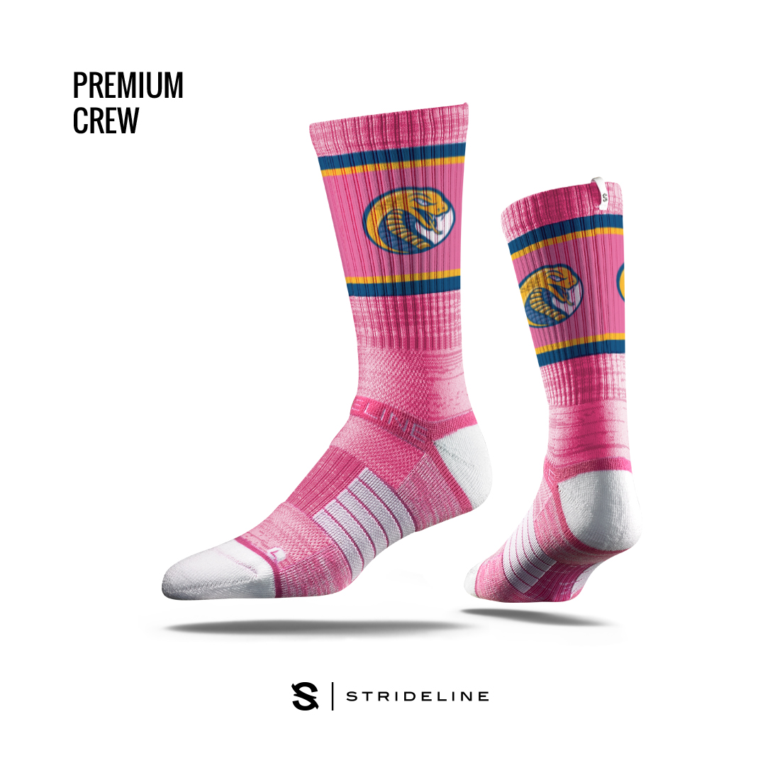 Image For Socks PINK STRIDELINE SOCKS