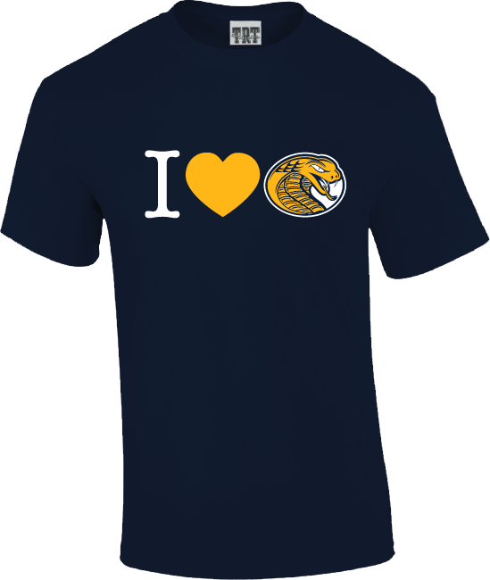 Image For Shirt Short Sleeve I HEART COBRAS