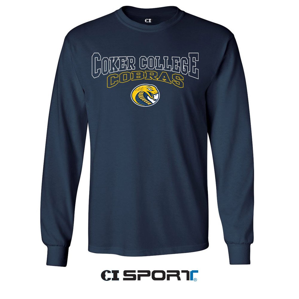 Image For Shirt Long Sleeve COKER COLLEGE COBRAS SPIRIT TEE