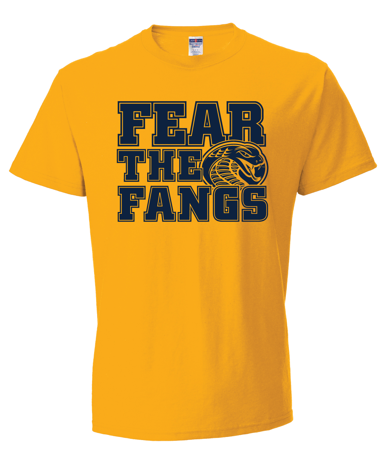 Image For Shirt Short  Sleeve GOLD TEE FEAR THE FANGS