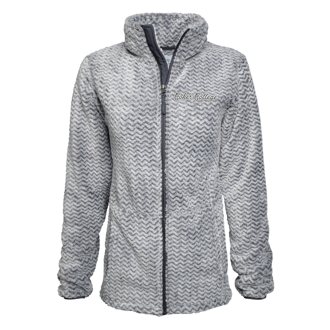 Image For Clearance Jacket WOMENS CHEVRON SHAG FULL ZIP
