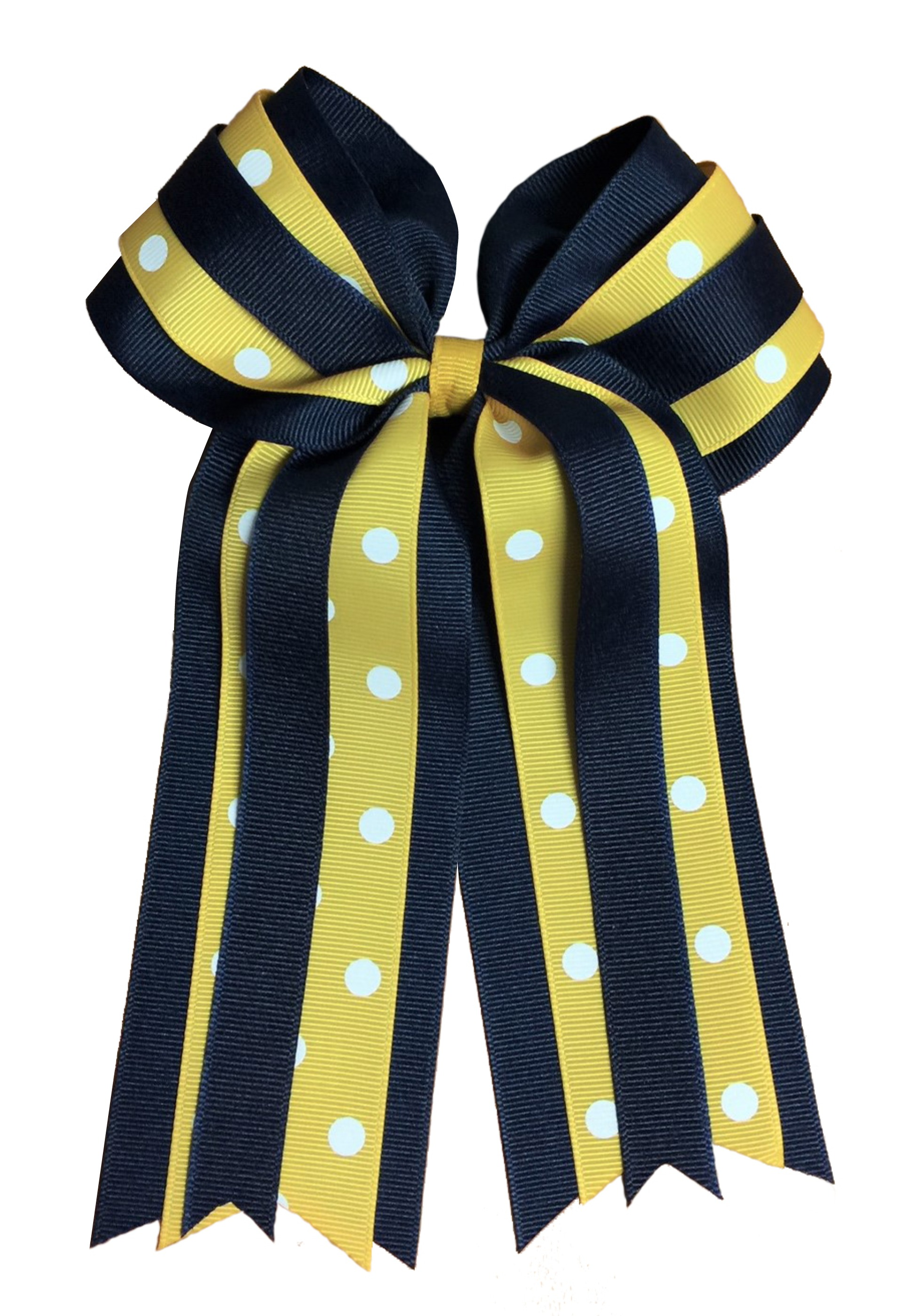 Image For Headware POLKA DOT PONY TAIL BOW