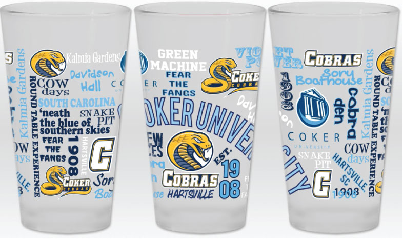Image For Drinkware 16OZ CU FROSTED GLASS