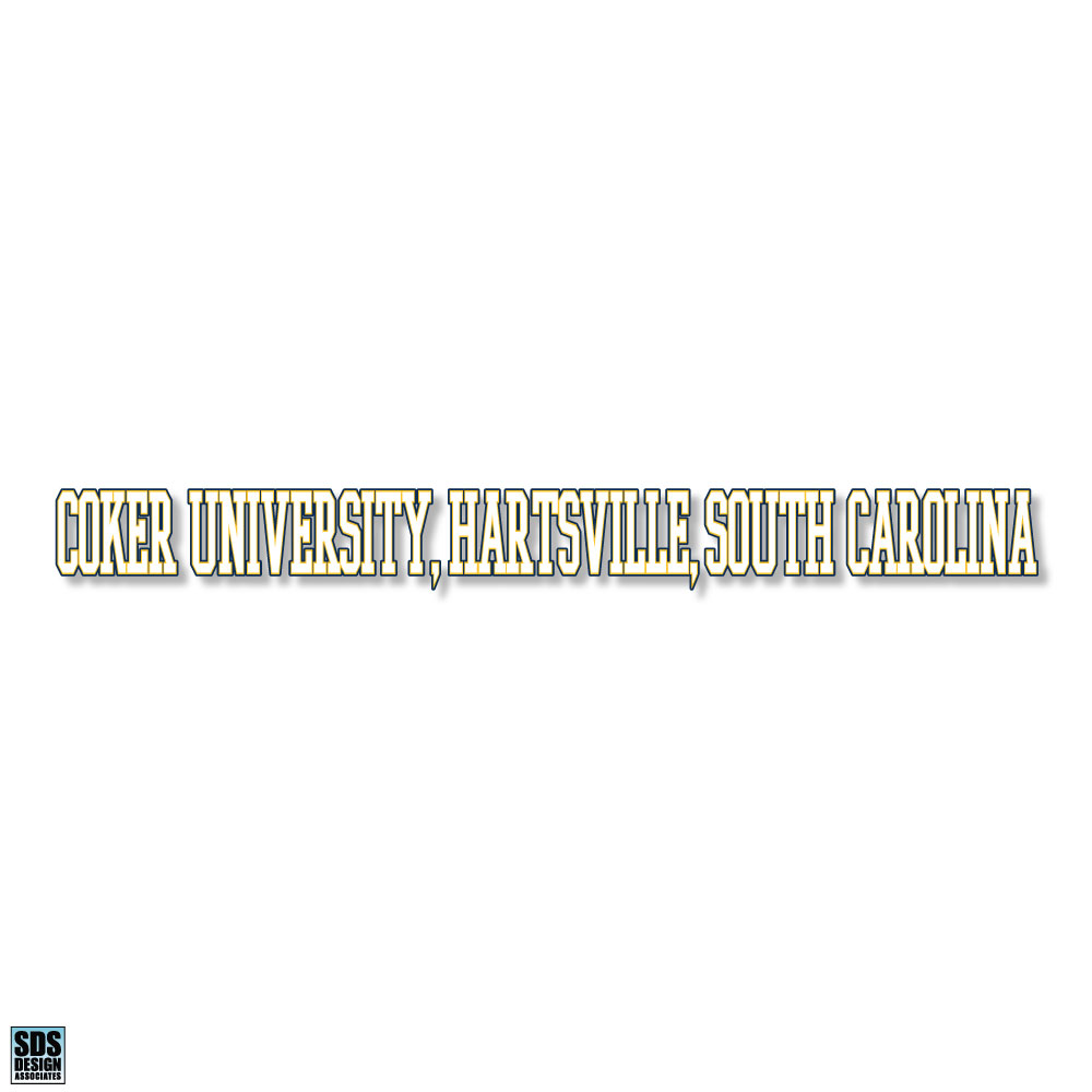 Image For Decal COKER UNIVERSITY HARTSVILLE SC DECAL LONG