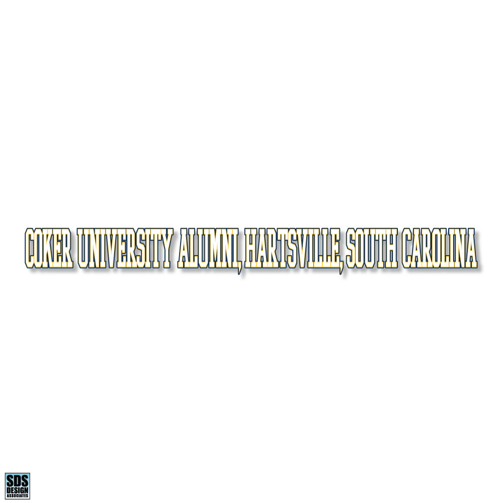 Image For Decal Alumni COKER UNIVERSITY ALUMNI DECAL LONG
