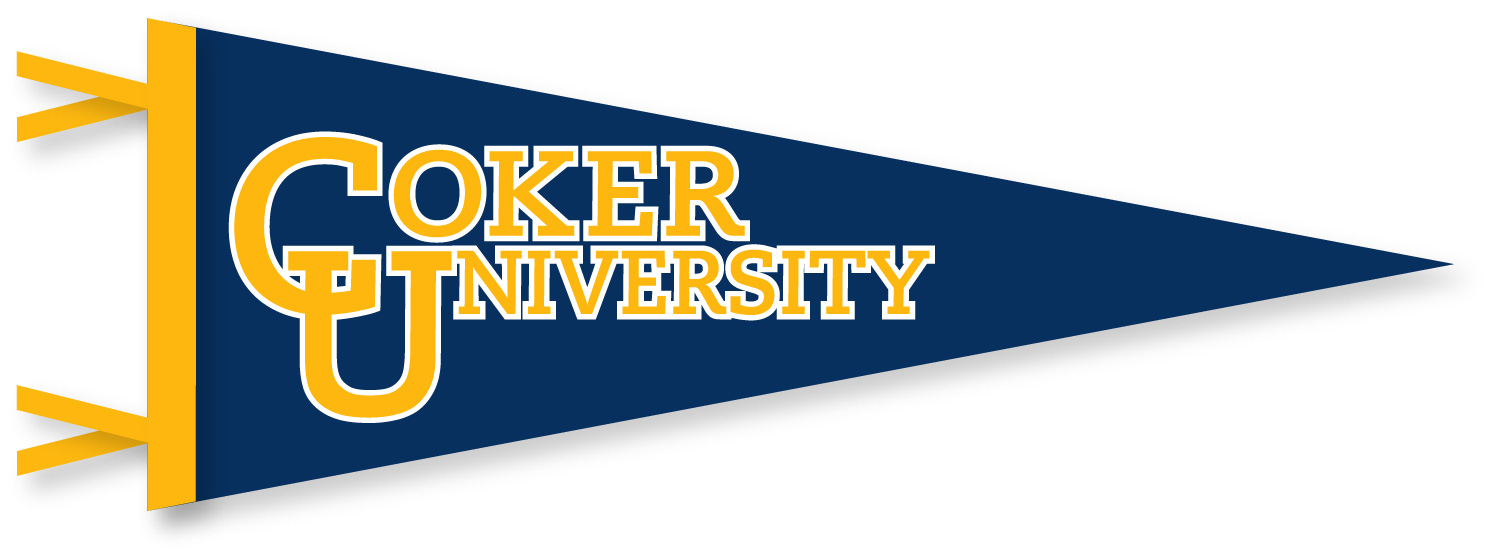 Cover Image For Pennant COKER UNIVERSITY 9X24 PENNANT