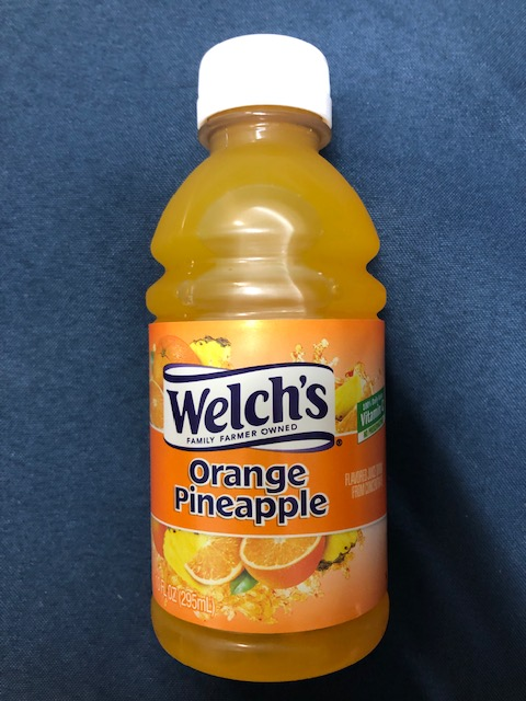 Image For Drink WELCH'S ORANGE/PINEAPPLE JUICE 10 FL OZ