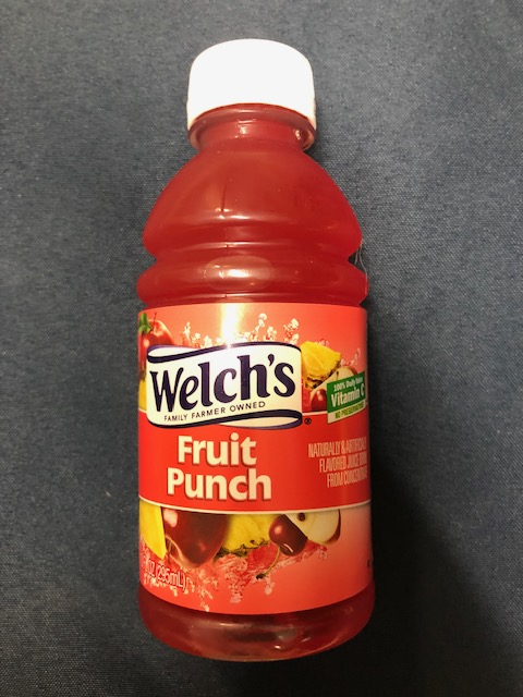 Image For Drink WELCH'S FRUIT PUNCH 10 FL OZ