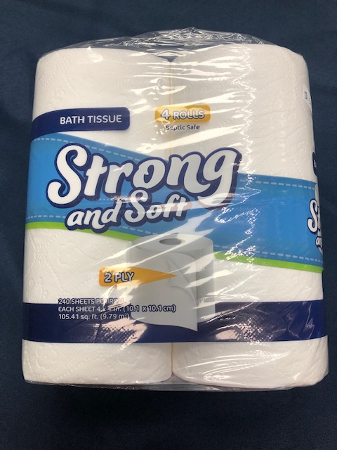 Image For STRONG & SOFT 2 PLY TOILET PAPER 4 ROLLS
