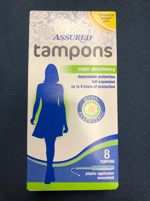 Image For ASSURED TAMPONS 8 PCKG PLASTIC