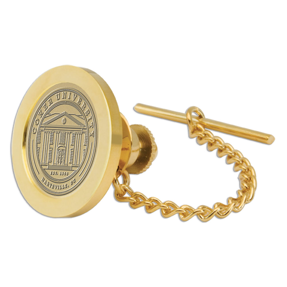 Image For Gift COKER UNIVERSITY TIE TAC BRASS