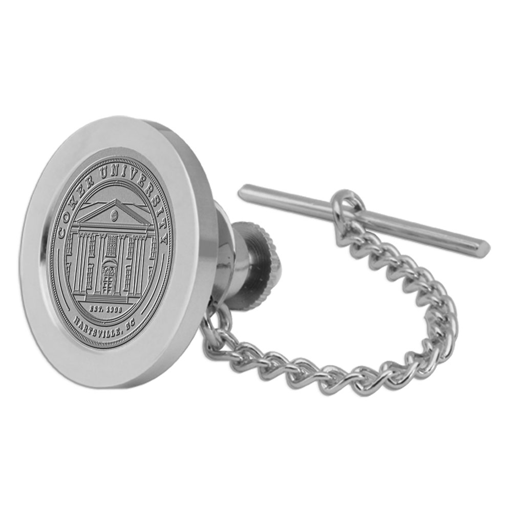 Image For Gift COKER UNIVERSITY TIE TAC SILVER