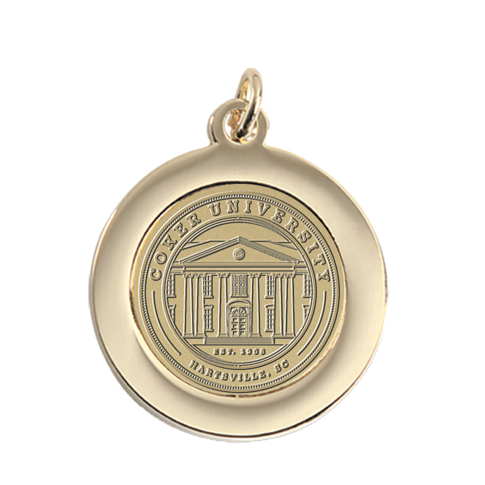 Cover Image For Gift COKER UNIVERSITY PENDANT BRASS