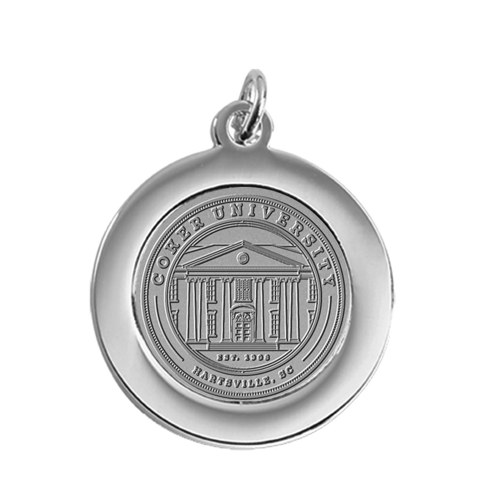Image For Gift COKER UNIVERSITY PENDANT SILVER