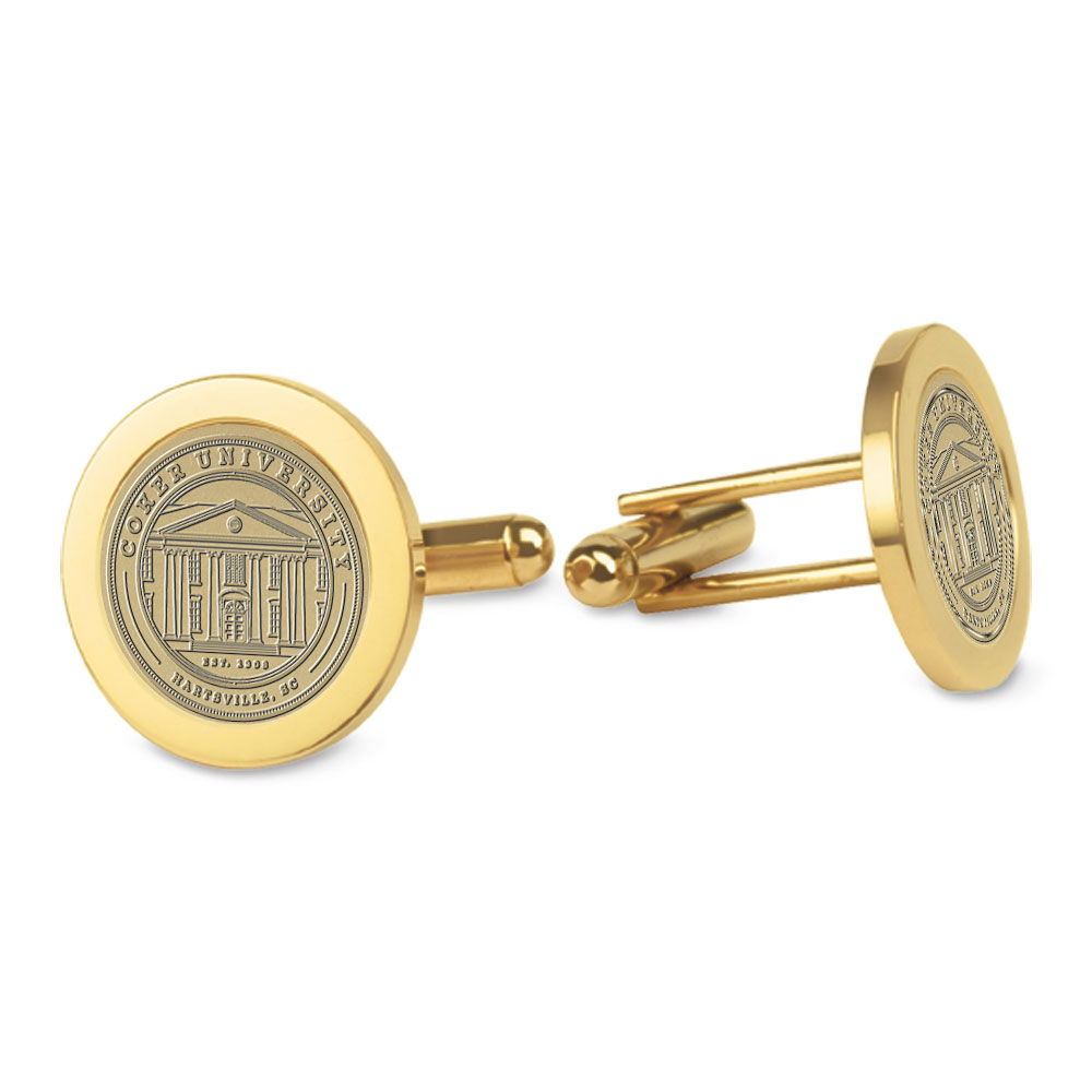 Image For Gift COKER UNIVERSITY CUFF LINKS BRASS