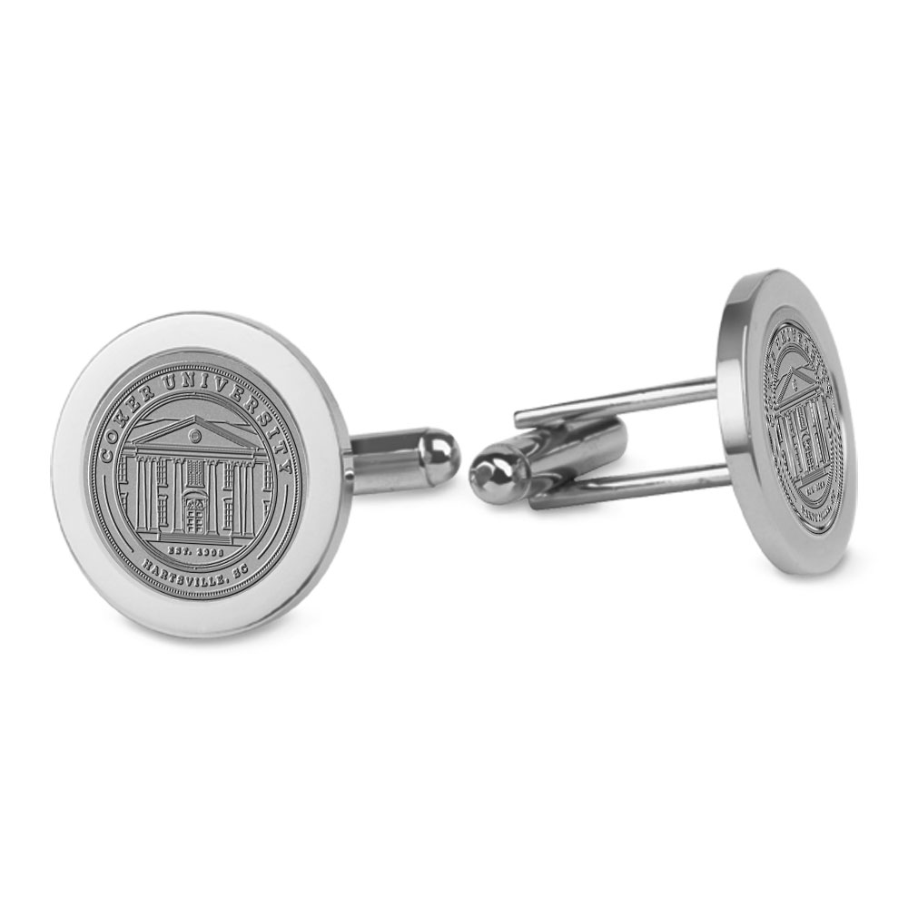 Cover Image For Gift COKER UNIVERSITY CUFF LINKS SILVER