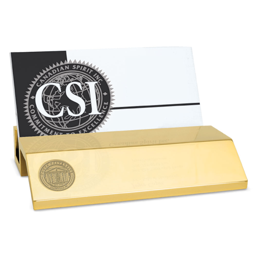 Cover Image For Gift COKER UNIVERSITY BUSINESS CARD HOLDER BRASS