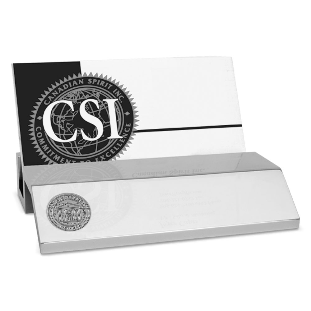 Cover Image For Gift COKER UNIVERSITY BUSINESS CARD HOLDER SILVER