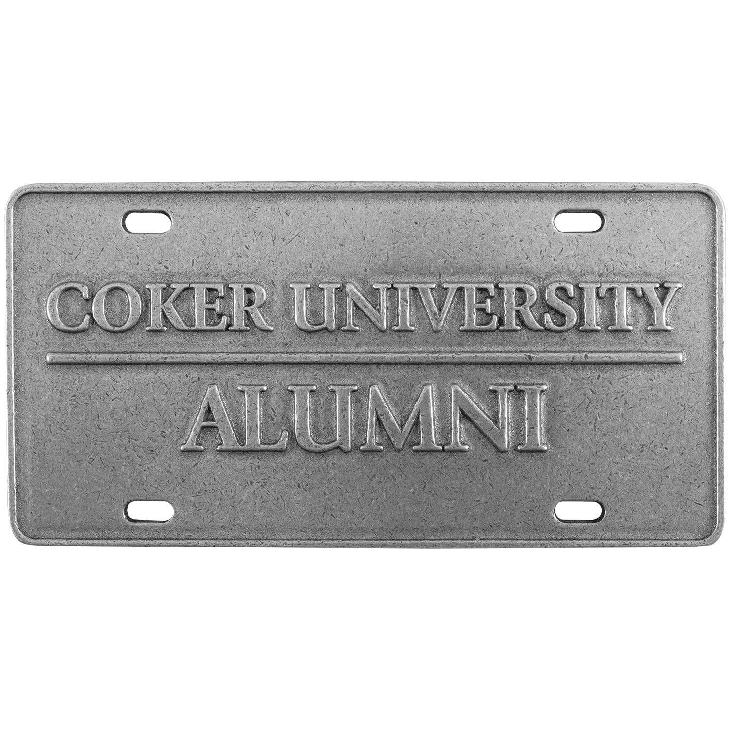 Image For License Plate COKER UNIVERSITY ALUMNI PEWTER