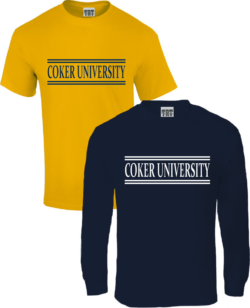 Image For Bundle COKER UNIVERSITY SHORT SLEEVE/LONG SLEEVE GOLD/NAVY