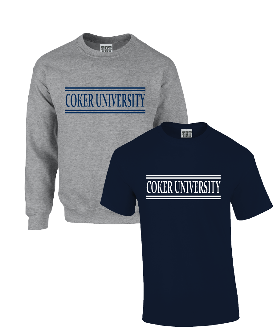 Image For Bundle COKER UNIVERSITY SHORT SLEEVE/CREW NAVY/OXFORD