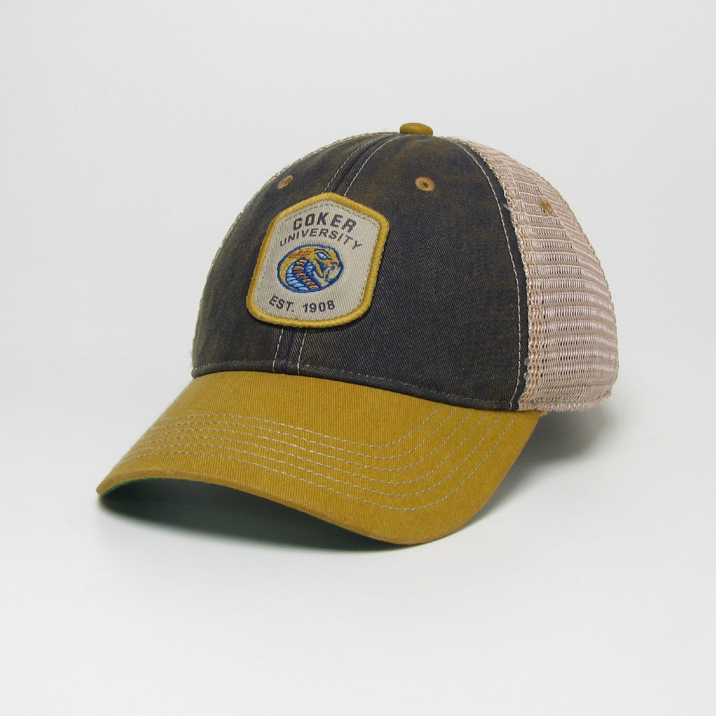 Cover Image For Hat Cotton OLD FAVORITE TRUCKER COKER UNIVERSITY EST 1908