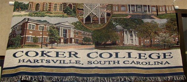 Image For Souvenir Blanket COKER COLLEGE THROW
